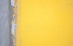 Yellow concrete wall background Royalty Free Stock Image
