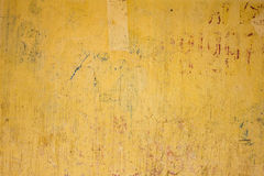 Yellow concrete wall texture Royalty Free Stock Image