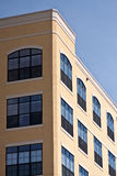 Yellow Condo Tower and Windows Royalty Free Stock Photos
