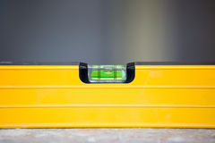 Yellow construction bubble level Royalty Free Stock Images