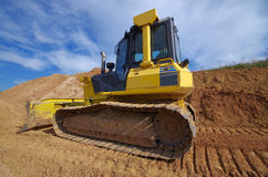 Yellow Construction bulldozer Stock Photos