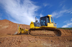Yellow Construction bulldozer Royalty Free Stock Images