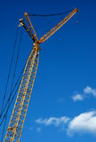 Yellow Construction Crane Stock Image