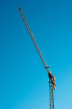 Yellow construction crane Stock Photography