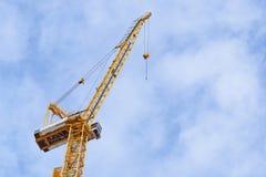 Free Yellow Construction Crane On Bule Sky Background Stock Photos - 191861083