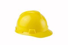 Yellow Construction Hard Hat with clipping path Stock Images