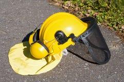 Yellow construction helmet Royalty Free Stock Photos