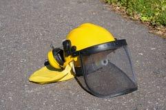 Yellow construction helmet Stock Image