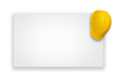 Yellow construction helmet royalty free stock photo
