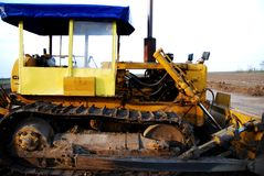 Yellow construction machinery Royalty Free Stock Photo