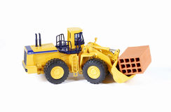 Yellow construction machinery Stock Photography