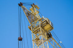 Yellow construction tower Stock Images