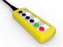 The yellow control board Royalty Free Stock Photos