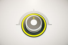 Yellow control button Royalty Free Stock Image