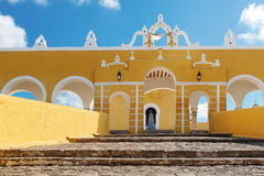 Yellow convent walls Royalty Free Stock Photo