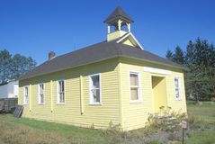 A yellow converted church in Wisconsin Stock Images