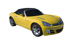 Yellow convertible Royalty Free Stock Image