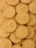 Yellow cookies background Royalty Free Stock Image