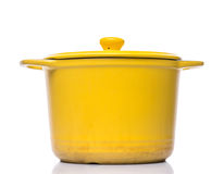 Yellow Cooking Pot II Royalty Free Stock Images