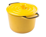 Yellow Cooking Pot VII Royalty Free Stock Photos