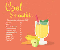 Yellow cool smoothie Royalty Free Stock Photos