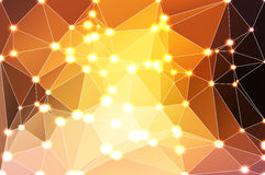 Yellow coral pink black geometric background with mesh and light Stock Images