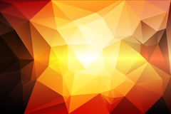 Yellow coral pink black low poly background Royalty Free Stock Image