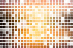 Yellow coral pink black occasional opacity mosaic over white Stock Photography
