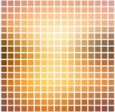 Yellow coral pink black rounded mosaic background over white squ Royalty Free Stock Photo
