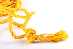 Yellow cord Royalty Free Stock Photos