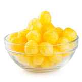 Yellow corn balls in transparent plate Stock Photos