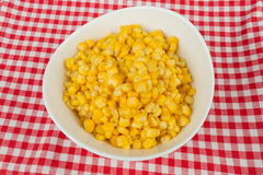 Yellow corn in a bowl Royalty Free Stock Photo