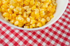 Yellow corn in a bowl Royalty Free Stock Images