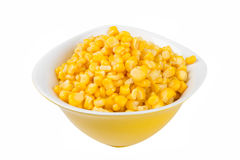 Yellow corn in a bowl Stock Image