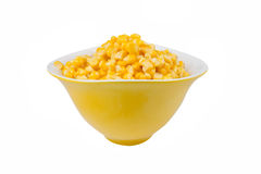 Yellow corn in a bowl Stock Photo