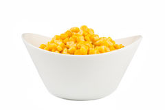 Yellow corn in a bowl Royalty Free Stock Image