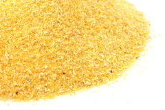 Yellow corn flour Royalty Free Stock Images