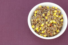 Yellow Corn and Red Quinoa Recipe Stock Photography
