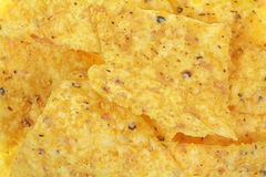 Yellow Corn Tortilla Chips up Close Stock Photos