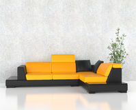 Yellow corner furniture set Stock Photos