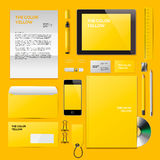 Yellow Corporate ID mockup Stock Photo