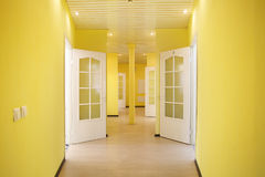 Yellow corridor Royalty Free Stock Photo
