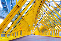 Yellow corridor, spheres and p Royalty Free Stock Photo