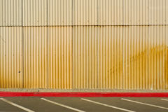 Corrugated Tin Wall Royalty Free Stock Photos