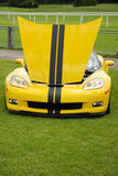 Yellow corvette Royalty Free Stock Photo