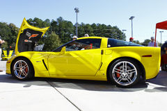 Yellow Corvette Z06 Stock Image