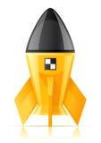 Yellow cosmic rocket. Illustration isolated on white background royalty free illustration
