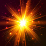 Yellow cosmic vector explode Royalty Free Stock Image