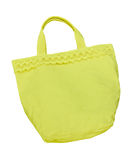 Yellow cotton bag isolated Royalty Free Stock Photo