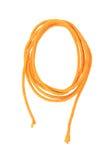 Yellow cotton fiber thread isolated on white Stock Photo